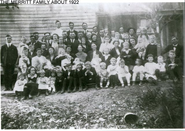 The Merritt family about 1922
