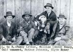 (L-R) Fanny Lethco, William (Deed) Henry, Calf unnamed, Ruthus Johnson, Clyde Honer