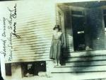 Sarah Dennis at New Salem School, Early 1900's