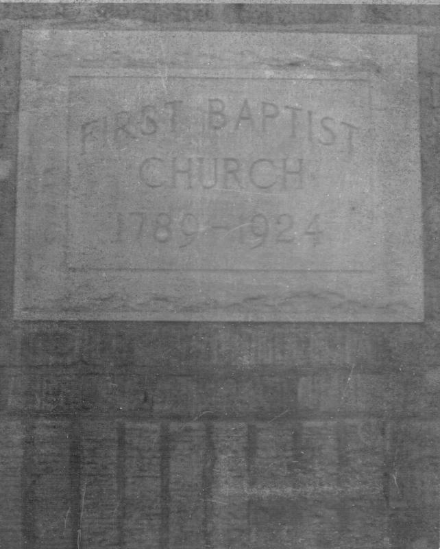 Cornerstone of First Baptist Church, Sevierville - 1924