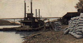 Riverboat in Knoxville circa 1910