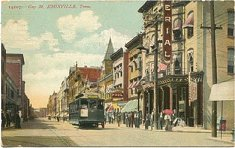 Gay Street with trolley circa 1910