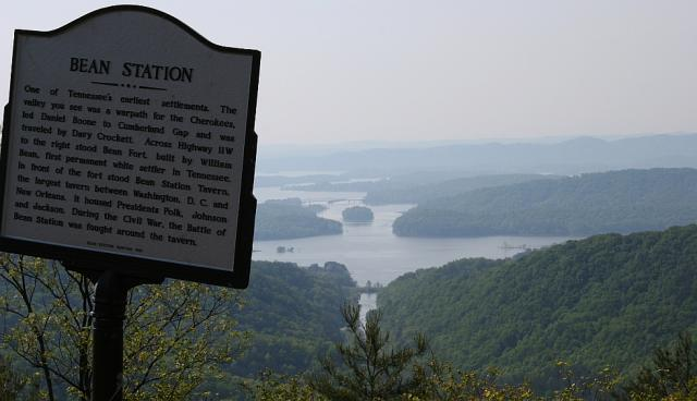 Grainger County: View of Cherokee Lake at Bean Station