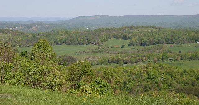 Grainger County: View from top of Clinch Mountain looking toward Cumberland Gap